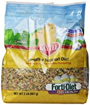 Kaytee Forti Diet Egg-Cite Bird Food for Canaries, 2-Pound Bag