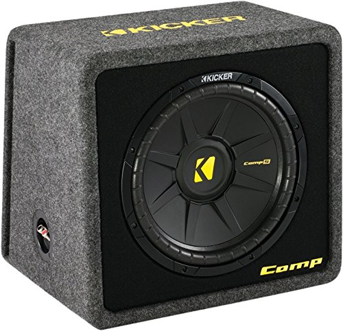 "Kicker Vcomps124 (40Vcws124) 12"" Comps Series Angled Vented Loaded Subwoofer Enclosure"