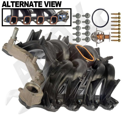 APDTY 726299 Intake Manifold Assembly With Upgraded Aluminum Coolant Passage Includes O-Ring Gaskets & Thermostat Fits 2000-2014 Ford Trucks & Vans w/ 5.4L Engine (Replaces Ford 4C2Z-9424-CA, 2L1Z-9424-AA, 5C2Z9424AA, 9C2Z9424AA, AC2Z9424A) (2000 F150 Intake Manifold compare prices)