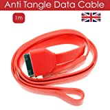 New Flat USB Data Charger Cable Sync For iPhone 4 4S 4GS 3G 3GS iPad 2 3 iPod Touch Classic Shuffle Nano