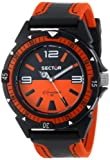 Sector Men's Quartz Watch with Orange Dial Analogue Display and Orange Fabric Strap R3251197019