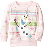 Frozen Little Girls' Olaf Christmas Sweater