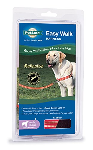 PetSafe Reflective Easy Walk Dog Harness, Medium/Large, Red/Black (Large Easy Walk Harness compare prices)