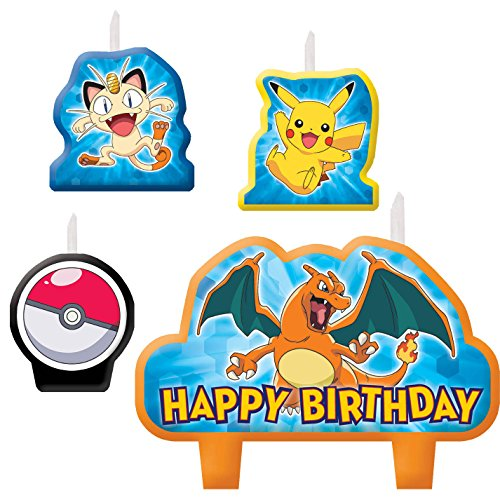 Pikachu and Friends Birthday Candle Set - 1