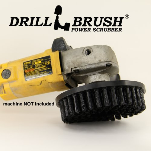 Stiff Power Scrub Brush Attaches To Variable Speed Rotary Buffer