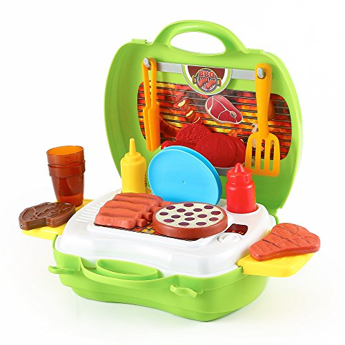 Durable Kids BBQ Restaurant Kit, With Toy Food, Condiments and Utentils, packed in a Sturdy Gift Case by Kinder Toys (Restaurant Bbq compare prices)