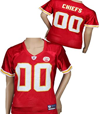 Kansas City Chiefs NFL Ladies Team Replica Jersey, Red by Reebok
