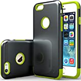 """iPhone 6 Case, Caseology [Dual Layer] Apple iPhone 6 (4.7"""" inch) Case [Charcoal Black / Lime Green] Premium Slim Fit Impact Resistant Protective Armor Rugged Hard iPhone 6 Case [Made in Korea] (for Apple iPhone 6 Verizon, AT&T Sprint, T-mobile, Unlocked)"""