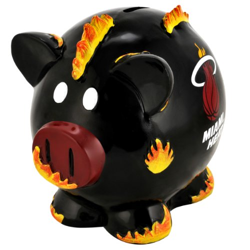 NBA Miami Heat Resin Large Thematic Piggy Bank