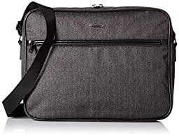 Pierre Cardin Crosby 15 Inch Laptop Messenger Bag, Herringbone/Black
