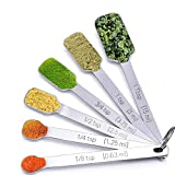 Senbowe™ Set of 6 Kitchen Stainless Steel Measuring Spoons Set / Stackable Measure Tablespoons Spoons for Dry Spice Jar Sugar Seasoning,Baking and Cooking.