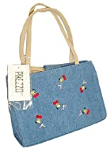 Prezzo Blue Denim Cheerleader Handbag Purse #YS 2588