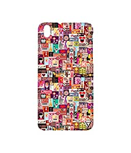 Vogueshell Music Pattern Printed Symmetry PRO Series Hard Back Case for HTC Desire 816G