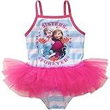 Disney Frozen Elsa & Anna Little Girl One Piece Swimsuit Size 5T