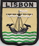 Lisbon Portugal Flag Embroidered Patch Badge