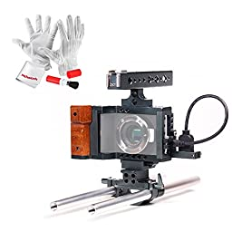 Emgreat ® DSLR Rig with Top Handle Handgrip Video System Cage for BlackMagic Pocket Camera