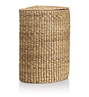 Water Hyacinth Corner Laundry Basket