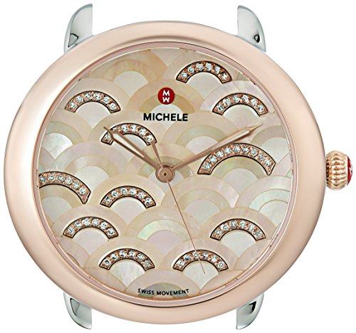 MICHELE-Womens-Serein-16-Swiss-Quartz-Stainless-Steel-Dress-Watch-ColorTwo-Tone-Model-MW21B00L4978