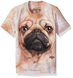 The Mountain - Youth Pug S T-Shirt, Size- Medium, Color- Multi