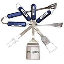 NFL New England Patriots 4-Piece Barbecue Set
