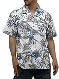 (ルーシャット) ROUSHATTE アロハシャツ 半袖 大きいサイズ ハイビスカス 3L アイボリー