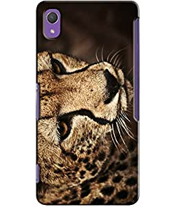 EU4IA Tiger Face Pattern MATTE FINISH 3D Back Cover Case For Sony Xperia Z2 - D375