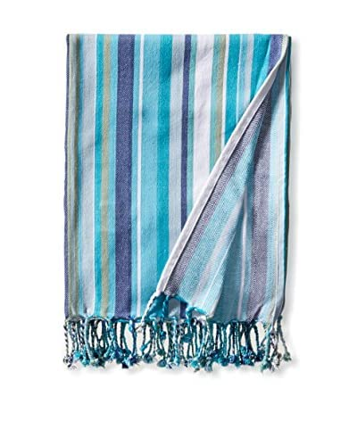 Espalma Fringe Blanket, Turquoise