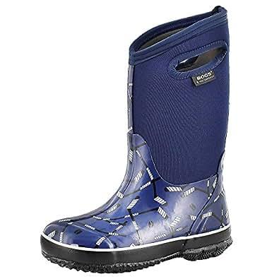 bogs boys classic hockey waterproof boot