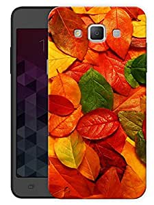 """Humor Gang Colorful Leaves Printed Designer Mobile Back Cover For """"Samsung Galaxy E5"""" (3D, Matte, Premium Quality Snap On Case)"""