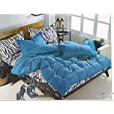 WRAP 100% PREMIUM QUALITY REVERSIBLE DOUBLE BED 4PC COMFORTER SET SMC-13