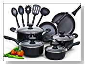Cook N Home 15 Piece Nonstick Cookware Set