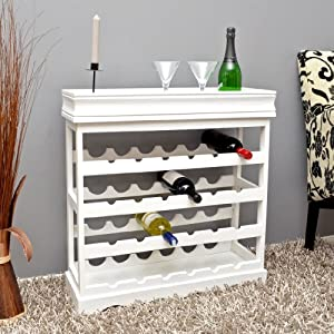 White wine rack for 24 bottles wooden wine rack wine rack for Weinregal weiss ikea