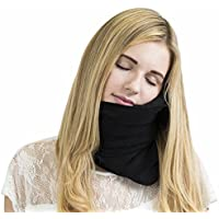 Trtl Pillow Scientifically Proven Super Soft Neck Support Travel Pillow (Machine Washable Black)