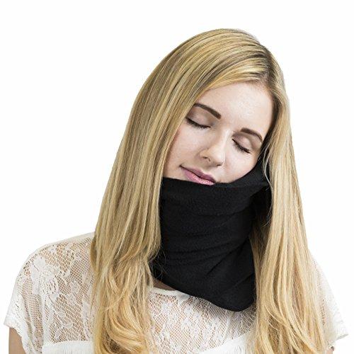 Trtl NapScarf - Scientifically Proven Neck Support, Multi Award Winning Travel Neck Pillow - BLACK