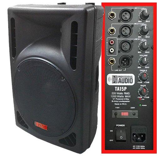Best Price 1200 Watt Powered DJ Speaker - 15-inch - Bi-Amp 2-Way Active Speaker System by Adkins Pro...