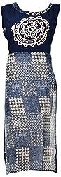 Veda Women's Rayon Kurta(Veda-20 _ 36, 36, Navy Blue)