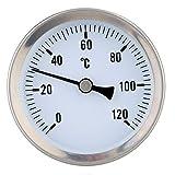 【ノーブランド 品】バイメタル 温度計 クリップ オン 温度ゲージ ダイヤル  スプリング