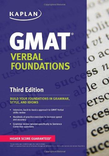 Kaplan GMAT Verbal Foundations (Kaplan Test Prep)