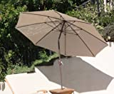 New Aluminum Large 9 Feet Round Any Color Sunbrella Fabric Outdoor Market Umbrella (Tilt & Pulley System) - choose any Sunbrella Fabric