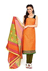 Aryahi Women's Cotton Dress Material (70472_Orange)