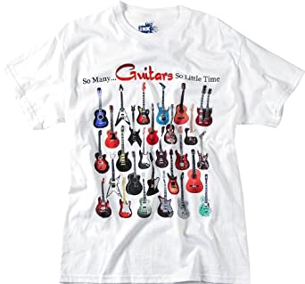 Ink Inc So Many Guitars T-Shirt Small White