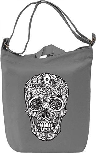 Tribal skull Borsa Giornaliera Canvas Canvas Day Bag| 100% Premium Cotton Canvas| DTG Printing|
