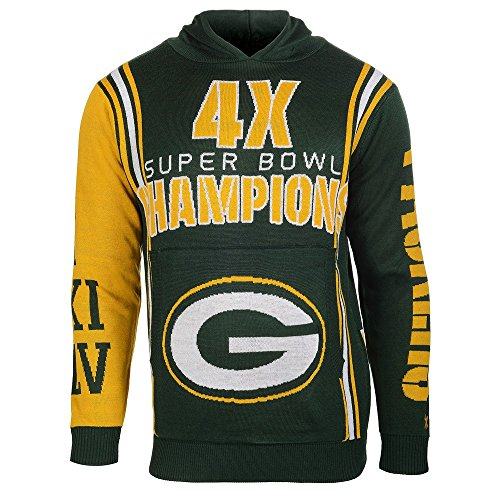 Green Bay Packers Official NFL Super Bowl Commemorative Acrylic Hoody (Green Bay Super Bowl Hat compare prices)