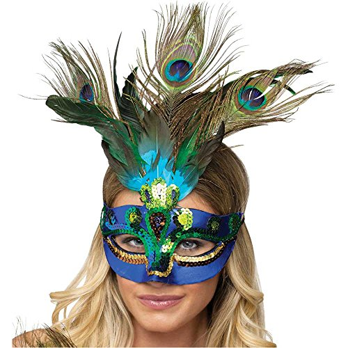 Peacock Feather Mask - One Size