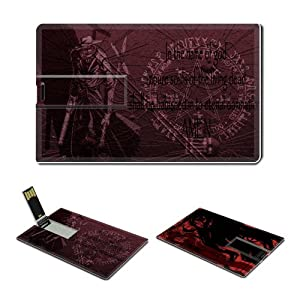 16GB USB Flash Drive USB 2.0 Memory Credit Card Size Anime Hellsing Comic Game Customized Support Services Ready Alucard-020
