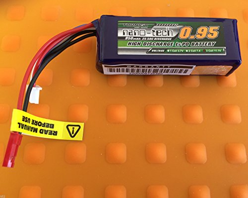Turnigy-nano-tech-950mAh-Lipo-Akku-3S-111V-25C-50C-DLG-SCHOCKY-HELI-COPTER-RC