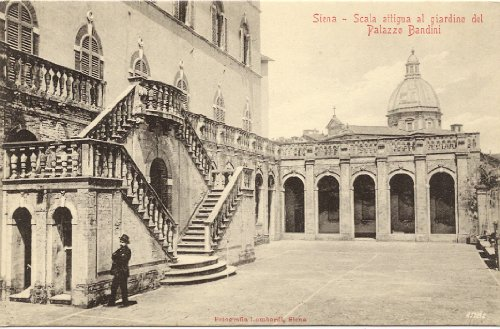 1910 Vintage Postcard Staircase adjoining the