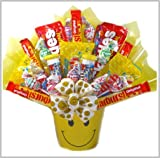 Delight Expressions&trade; Sweets N' Smiles Gift Basket - Candy Bouquet - Birthday or Halloween Gift for Kids