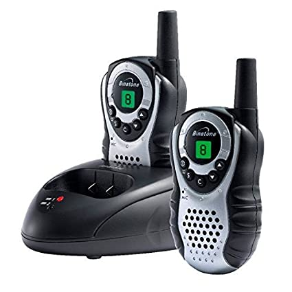 Binatone Latitude 150 paire de talkies walkies avec écran LCD - Portée en champs libre 5km - Gris