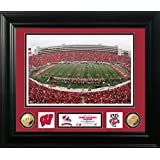 "NCAA Wisconsin Badgers Camp Randall Stadium Special Edition Coin Photo Mint, 32"" X 27"" X 4"", Gold"